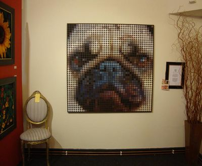 Painting of pug chippendale morris53