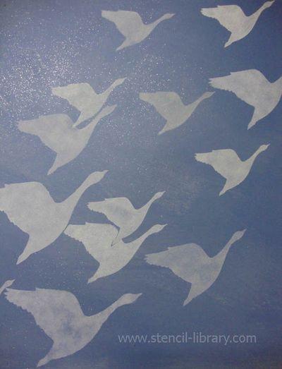 Geese on glitter glaze.26 copy