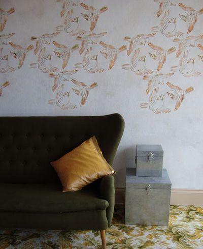 Vn birds stencil em554