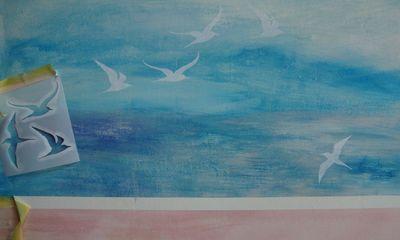 Seagull stencil 70