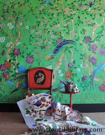 Stencil Library Chinoiserie 39