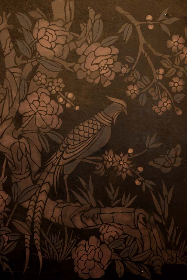 Chinoiserie stencil library black