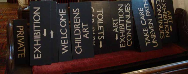 Bywells arts stencilled signs 61