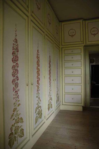 Gustav stencilled drawers ans wardrobes