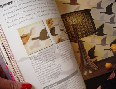 Stencil it pages geese 14