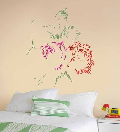 Tapestry rose stencil