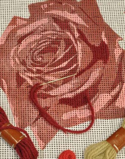 Rose Tapestry stencil Stencil It