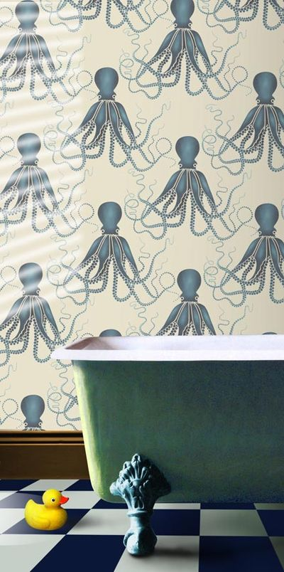 VN Octopus stencil bath No1