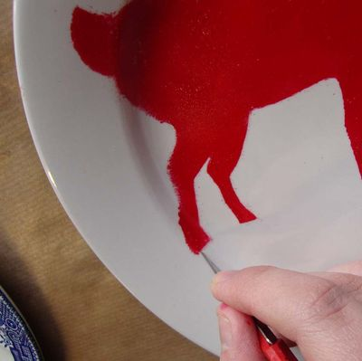 Clean up stencil plate24