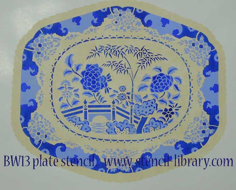 BW13 plate stencil