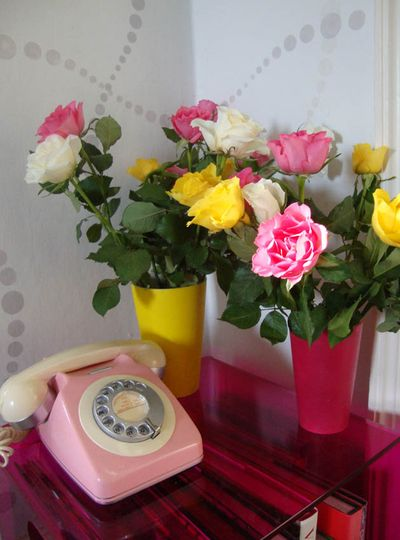 Telephone and roses96