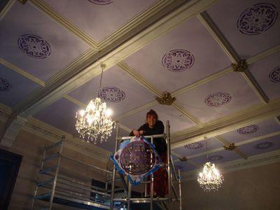 Helen stencils ceiling 80