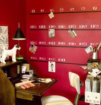 Stencilled Wall Calendar