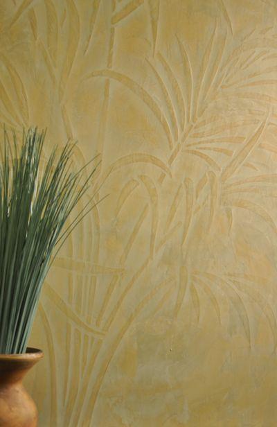 Venetian plaster palm stencil 12
