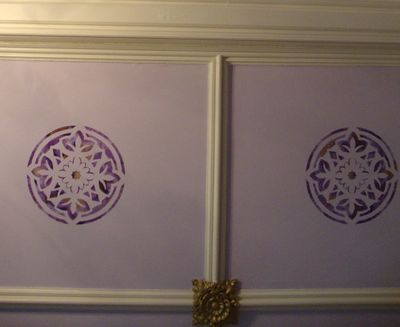 Stencilled ceiling cumbria 78
