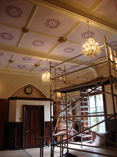 Stencilled ceiling cumbria 85