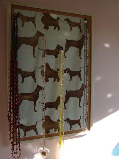 Stencil it dog pin board 75