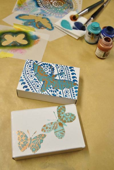 Paisley butterfly stencils. 91