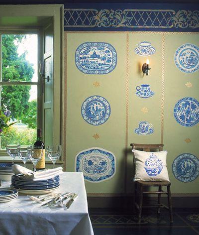 Stencils of plates stencil library