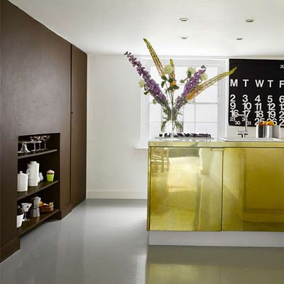 Gorgeous gold kitchen