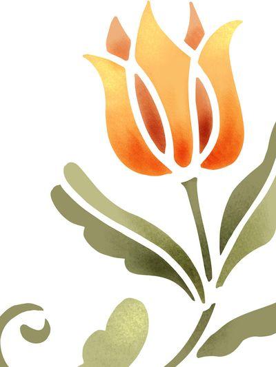 326 tulip stencil library