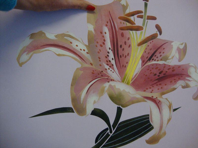 CO lily stencil 379