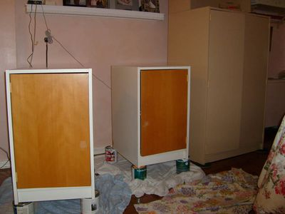 Cabinet before stenciling