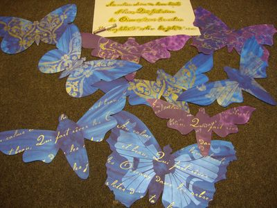Stencilled butterflies541