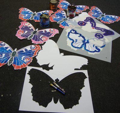 Jubilee stencilled butterflies 554
