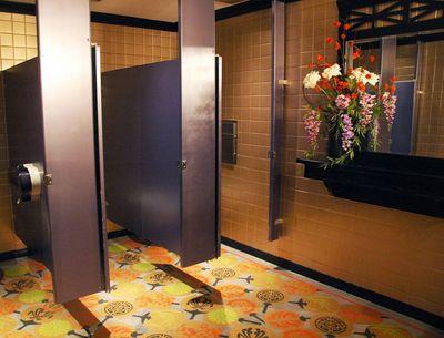 Gundrson Jap Fan stencilled Floor