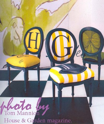 Text chairs H&G