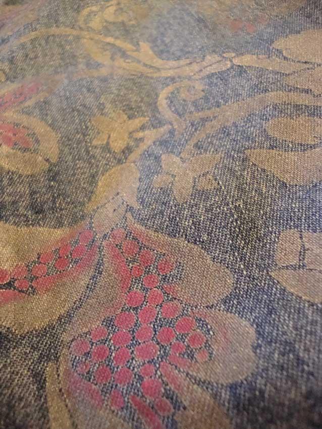 Stencilled brocade denim 495