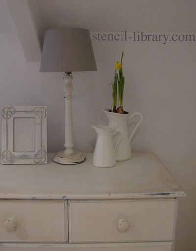 Stencil library and chalk paint74