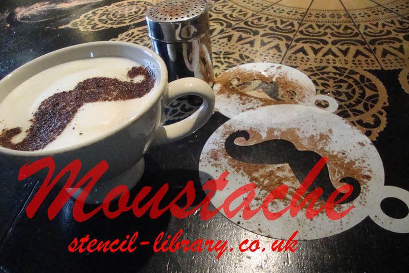 Moustache stencil text 24
