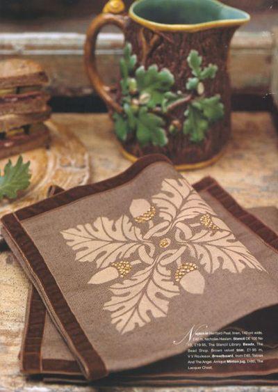 Oak tile stencil Hm&G10:02