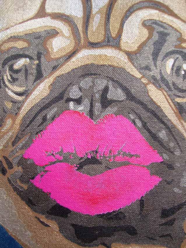 Pug dog kisses detail 629