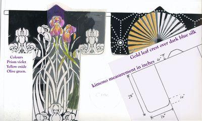 Kimono pattern scrap book