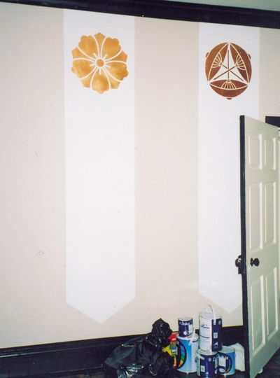 Jap wall pre chrysanth stencil