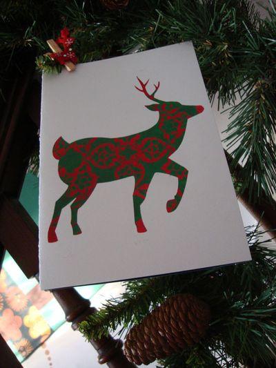 Reindeer stencil card 96