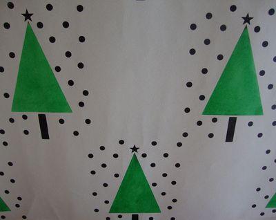 Christmas tree stencil44