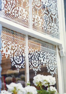 Stencilled window 036
