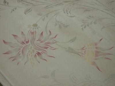 Angela rococo flower stencil 552