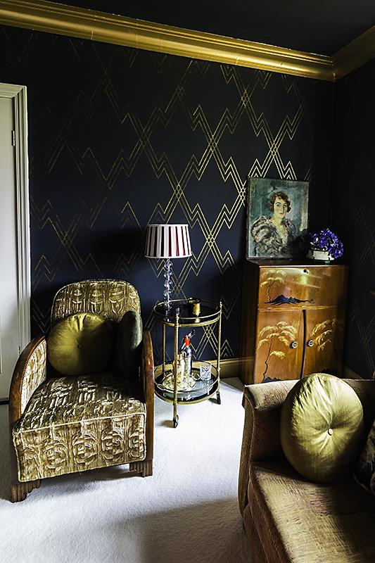 Art Deco Living Room Design Ideas: Rachel's Art Deco Living Room