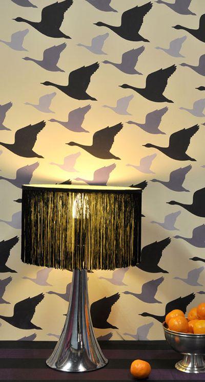 Stencil it book. Geese stencil