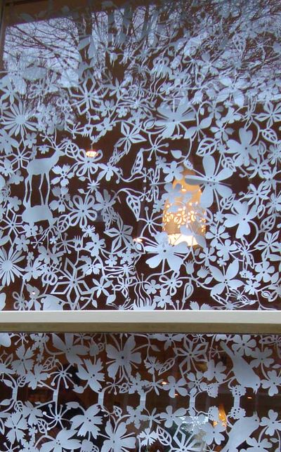 Paper cuts in shop window49