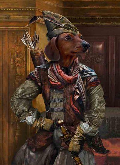 Max hood dog portrait