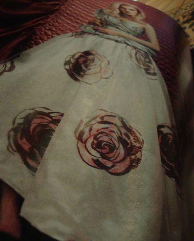 Rose pattern skirt430