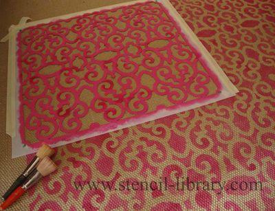 Stenciling sisal mat.txt323