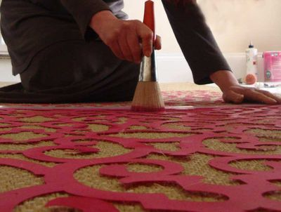 Stenciling sisal mat 38
