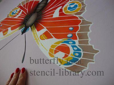 Butterfly stencil 377